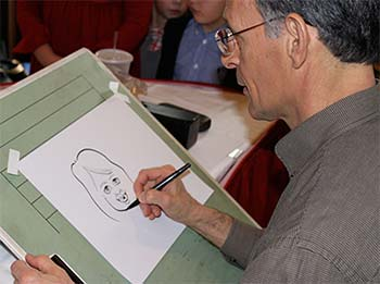 Caricature Artist Work at NY State Parks Public Event