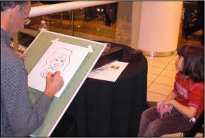 Caricature Artist Bloomingdales Polo Ralph Lauren Corporate Event