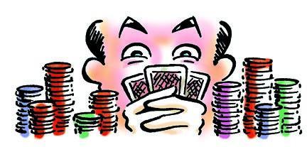 "Corporate Graphic Illustration ""Poker Face"""