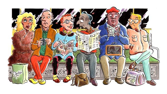"""Subway Love"" Editorial Illustration"