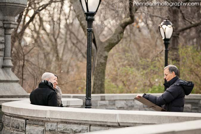 Central Park Marriage Proposal Artist at Belvedere Castle