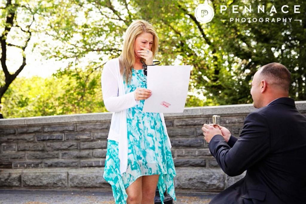 Central Park Marriage Proposal at Belvedere Castle