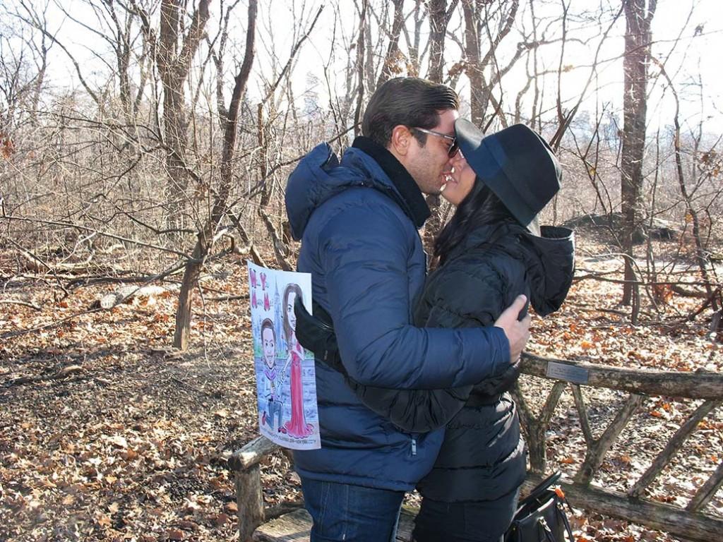 Central Park Marriage Proposal at Azalea Pond Bridge