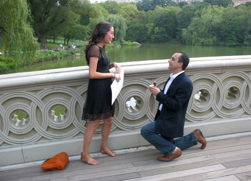 Central Park Marriage Proposal at Bow Bridge NYC