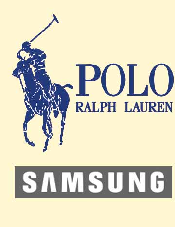 Corporate Events Entertainment Client Logos: Polo Ralph Lauren & Samsung