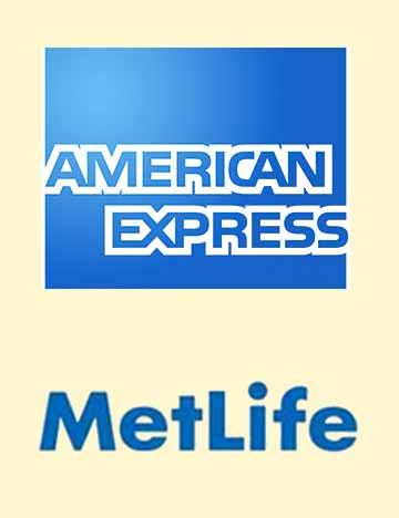 Corporate Events Entertainment Client Logos: American Express & MetLife