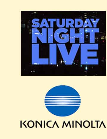 Corporate Events Entertainment Client Logos: SNL & Konica Minolta