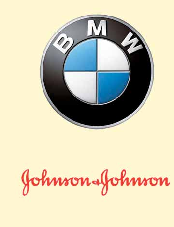 Corporate Events Entertainment Client Logos: BMW & Johnson & Johnson