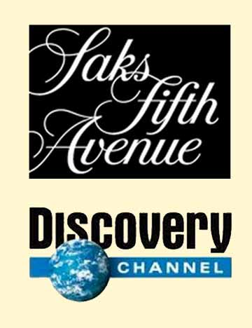 Corporate Events Entertainment Client Logos: Saks & Discovery